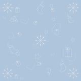 De winterachtergrond op blauw Royalty-vrije Stock Afbeeldingen