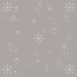 De winterachtergrond op grijs Royalty-vrije Stock Afbeelding