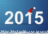 de winterachtergrond van 2015 Stock Fotografie