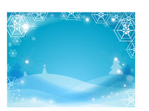De winterachtergrond van de sneeuwvlok Stock Afbeeldingen