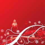 De winterachtergrond van Kerstmis, vector vector illustratie
