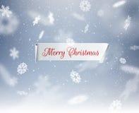 De winterachtergrond voor de kaart van de Kerstmisgroet Vector eps10 royalty-vrije illustratie