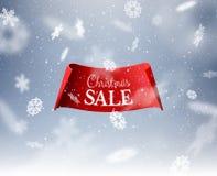 De winterachtergrond voor de kaart van de Kerstmisgroet Vector eps10 stock illustratie