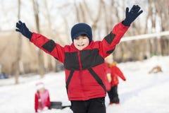 De winteractiviteit Stock Fotografie