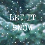 De winteraffiche op vage achtergrond met sneeuw Royalty-vrije Stock Fotografie