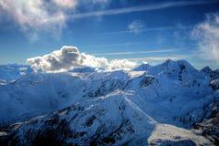 De winteralpen Stock Afbeelding