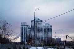 De winteravond in Moskou Stock Foto's
