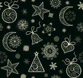 De winterbehang met decoratief gouden patroon royalty-vrije illustratie