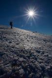De winterberg het beklimmen Royalty-vrije Stock Afbeeldingen