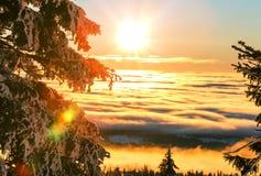 De winterbergen Stock Afbeelding