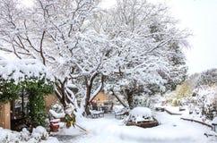 De winterbinnenplaats Royalty-vrije Stock Fotografie