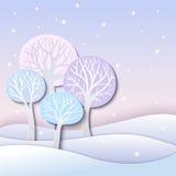 De winterbomen Stock Afbeelding