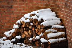 De winterbrandhout Royalty-vrije Stock Afbeelding