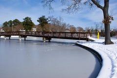 De winterbrug Royalty-vrije Stock Afbeeldingen