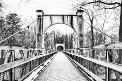 De winterbrug Stock Fotografie