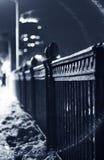 De winterbrug Stock Foto's