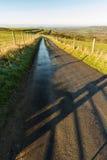 De winterdag op Engelse heuvel royalty-vrije stock fotografie