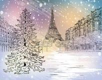 De winterdag in Parijs Royalty-vrije Stock Foto