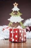 De winterdecoratie met Kerstmismateriaal Royalty-vrije Stock Foto
