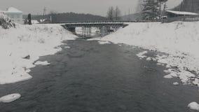 De winterdorp Kyn stock videobeelden