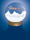 De winterdorp van Snowglobe royalty-vrije stock afbeeldingen