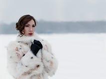De wintergangen Kuskovo Moskou Openlucht royalty-vrije stock afbeelding