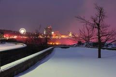 De Wintergloed van Niagara Stock Foto