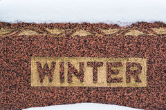 De wintergrafsteen Royalty-vrije Stock Foto