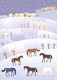 De winterheuvels Royalty-vrije Stock Fotografie