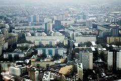De winterhorizon van Berlijn stock foto's
