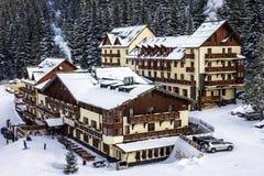 De winterhotel in toevlucht Jasna, Tatras, Slowakije stock afbeeldingen