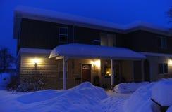 De winterhuis stock foto's
