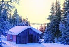 De winterhut Stock Afbeeldingen
