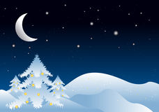 De winterillustratie van Kerstmis Royalty-vrije Illustratie