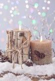 De winterkaars Royalty-vrije Stock Afbeelding