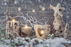 De winterkaarsen Royalty-vrije Stock Afbeeldingen