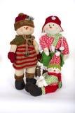 De winterkerstmis Toy Family Decoration Stock Afbeeldingen