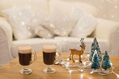 De winterkoffie Stock Foto's