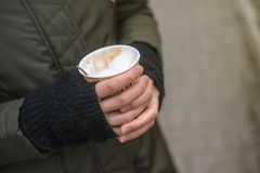 De winterkoffie Royalty-vrije Stock Afbeeldingen