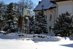 De winterkoude in Maart stock foto