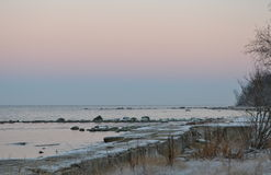 De winterkust Stock Afbeelding