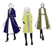 De winterlaag Manierillustratie, vectorschets royalty-vrije illustratie