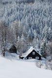 De winterland van Beskydy stock afbeelding
