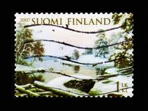 """De winterlandschap †""""Haminalahti, Meteorologie serie, circa 2007 stock afbeeldingen"""