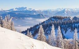 De winterlandschap Stock Foto's