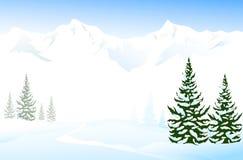 De winterlandschap Stock Illustratie