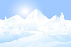 De winterlandschap - Royalty-vrije Stock Afbeeldingen
