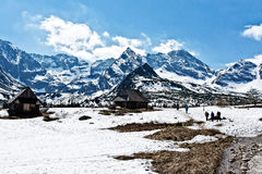 De winterlandschap in de bergen Royalty-vrije Stock Afbeeldingen