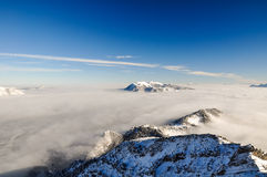 De winterlandschap dichtbij Garmisch, Zugspitze, Duitsland Stock Afbeelding