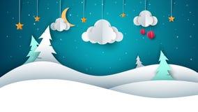 De winterlandschap - document illustratie stock illustratie
